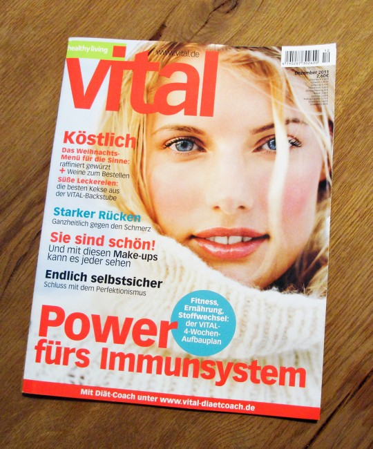 Jorg Badura photograph on the cover of Vital Magazine December 2011 issue