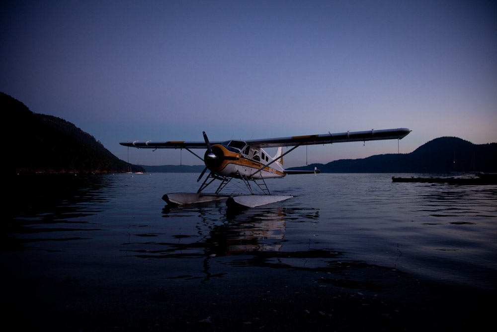 1954 deHavilland Beaver floatplane on Orcas Island.